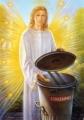 Engel des Sorgenmülls - Postkarte