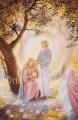 Familie im Schutz der Engel - Postkarte