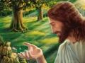 Jesus und die Blumenelfe - Postkarte