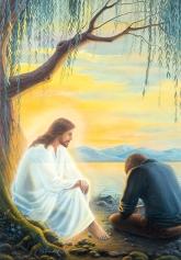 Gespräch mit Jesus - Postkarte